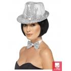 Vizuļojoša cepure, sudraba