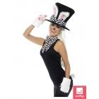 Tējas ballītes zaķa komplekts - cepure, zaķa ausis, cimdi, tauriņš un aste