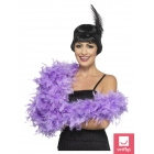 Boa gaiši violetā krāsā, 180 cm, 80 g. Pirms izmantošanas labi izkratīt!
