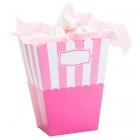 Trauciņi popkornam gaiši rozā, papīrs, 8.5 x 10 x 19 cm. 2 gab.