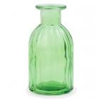 Dekoratīvā stikla pudelīte / vāze, 13.5 cm, zaļa