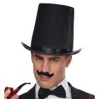 Augsta cilindra cepure, melna   20 cm