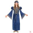 Renesanses dāmas kostīms (kleita, galvassega) (128 cm/5-7 gadi)
