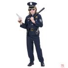 Policista kostīms  (svārki, bikses, josta ar maksti, cepure) (140 cm/8-10 gadi)