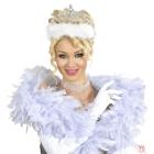 Tiara ar baltām spalvām
