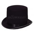 Melns tops cepure izgatavots no filca