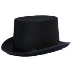 Cilindra cepure, melna, satīna