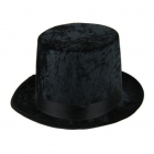 Augsta cilindra cepure melna, satīna