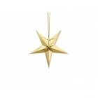 Papīra dekors zvaigzne, izgatavots no zelta spoguļa papīra, ar zelta auklu, diametrs 30 cm