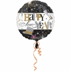"Folijas hēlija balons  ""Happy New Year"", izmērs 43 cm"