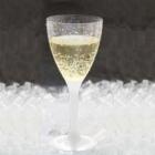 Vīna vai šampanieša glāze ar maināmu kājiņu (pasūta atsevišķi). Plastikāta, caurspīdīga 140 ml. .