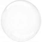 Apaļš caurspīdigs bezkrāsains balons Crystal Clearz©, Izmērs 56 cm, piepūšams ar hēliju vai gaisu