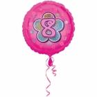 Rozā folijas balons ar ciparu  8 43 cm ar hēliju