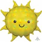 """Folijas hēlija balons """"Saulīte"""", mirdzoša krāsa, izmērs 68 x 68 cm,"""