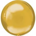 Apaļš folijas balons, spoguļu zelts, Orbz®, diametrs 43 cm, piepūšams ar hēliju