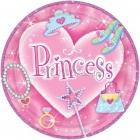 šķīvji ar attelu prizmatiskas . Tema - Princese, 22.8 cm, 8 gab