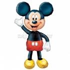 """Staigājošs folijas balons """"Peļuks Mikijs / Mickey Mouse"""", izmērs 132 x 96 cm"""