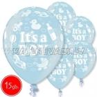 """12""""/30 cm lateksa baloni, Its Boy, 15 gab."""