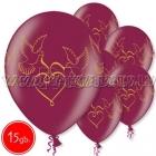 """12""""/30 cm lateksa baloni, Baloži, burgundy, 15 gab."""