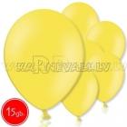 "10.5""/27cm  lateksa balons, pastels, dzeltenais,  15 gab."