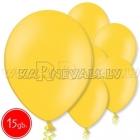 """10.5""""/27cm  lateksa balons, pastels, spilgti dzeltens,  15 gab."""