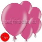 """12""""/30cm lateksa balons, metalliks, fuksija, 15 gab."""