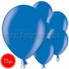 """12""""/30cm lateksa balons, metalliks, zils, 15 gab."""
