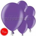 "10.5""/27cm lateksa balons, metalliks, violets, 15 gab."