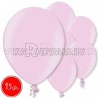 "10.5""/27cm lateksa balons, metalliks, gaiši rozā, 15 gab."