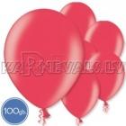 """Lateksa baloni sarkanā krāsā ar perlamutra spīdumu, izmērs 10.5""""/27cm,, iepakojums 100 gab."""