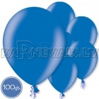 "Metalliks, zili, 12""/30cm lateksa baloni 100.gab"