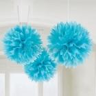Zīdpapīra bumbas, komplektā 3 gab., diam. 41 cm, gaiši zilā krāsā.