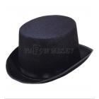 Cilindra cepure pieaugušajiem, melna, filca, liels izmērs