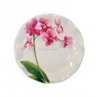 Šķīvji  ar attēlu Rozā orhideja  22cm, 10.gab. I
