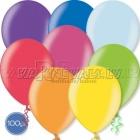 "12""/30cm lateksa balons, metalliks, assorti, 100 gab."