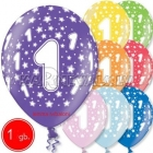 30 cm lateksa balons,  dzimšanas diena, assortimenta  dažadas krasas, 1 gab.