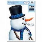 Snowman Driver Car Cling