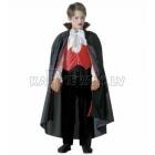 Vampīra kostīms (128cm) - krekls ar vesti, tauriņš, bikses, apmetnis