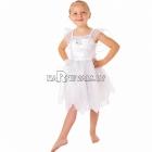 Baltās fejas kostīms 98 cm meitenēm, komplektā kleita ar spārniem un organzas ar adruku