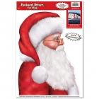 Santa Driver Car Cling
