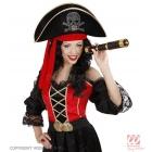 Pirāta cepure ar galvaskausu un lenti, velveta