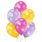 """""""Kuciņas"""" 12""""/30 cm lateksa baloni  6 gab. Pastelis: 015 Gaiši Oranžš, 009 Gaiši violets, 010 Koši Rozā. Druka: 1 Krāsa(s) / 5 P"""