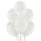 Sirsniņas – 30 cm. baloni 6 gab., caurspīdīgi, apdruka 1 krāsā / 5 pusēs