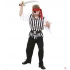 Pirāts - uzvalks zēnam jakā, bikses, siksna, galvassega 128 cm 5-7 gadi