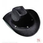 KOVBOJU melna cepure ar kniedēm