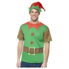 Elfa komplekts, zaļš, T krekls un cepure