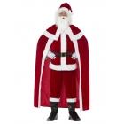 Santa Klausa kostims  Lukss Sarkanais, bikses, jaka, apmetnis, josta, zābaki, cimdi, bārda, cepure