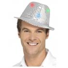 Cepure, sudrabs, ar daudzfunkcionāliem LED gaismas lukturiem