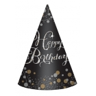 "Cepurītes ""Sparkling Birthday"", zelta-spīdīga, 8 gab"