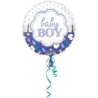Folijas hēlija balons bērna piedzimšanai puisīšiem, 43 cm
